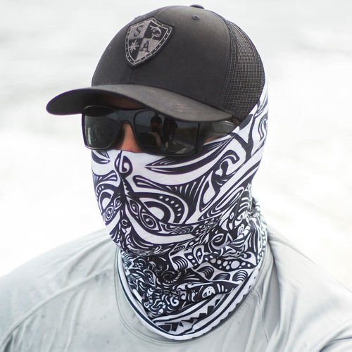 SA Co. Face Shield™ Polynesian Tribal Black & White