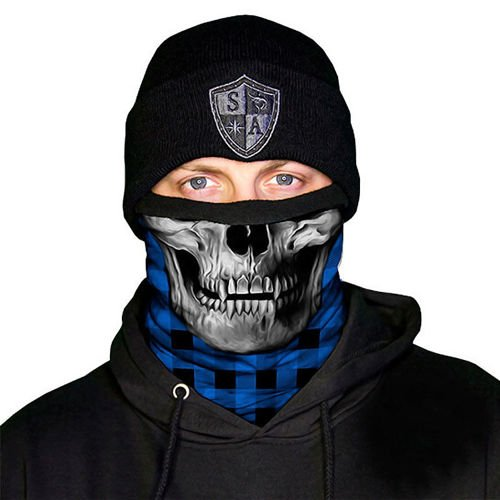 SA Co. Frost Tech™ Face Shield™ Lumberjack Blue Skull