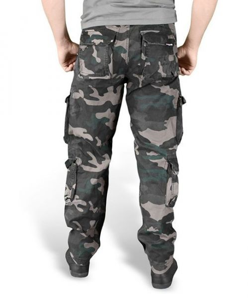 Surplus Airborne Pants Slim Black Camo
