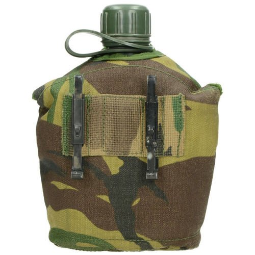 Surplus Canteen with a Cover and a Cup of the Dutch Army Dutch Camo