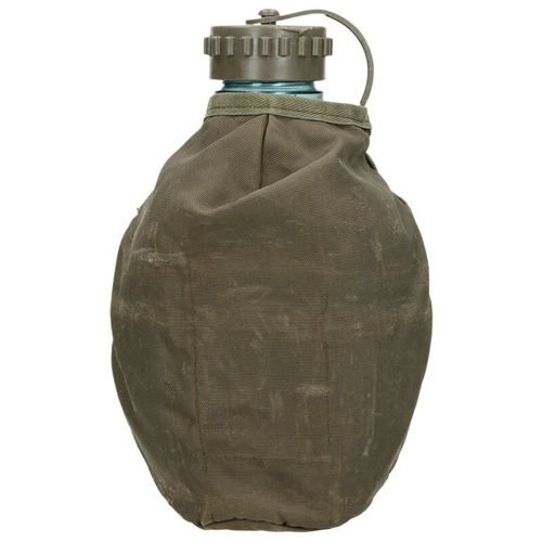 Surplus Clear Canteen with a Case of the Austrian Army Olive