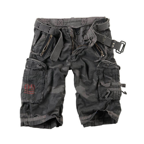 Surplus Royal Black Camo Shorts