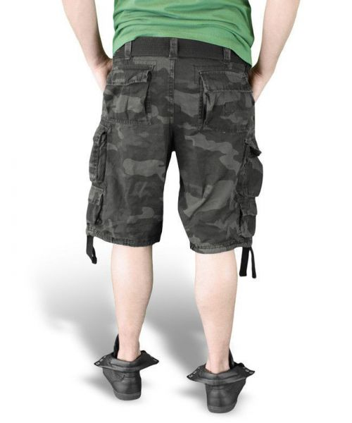 Surplus Shorts Division Black Camo