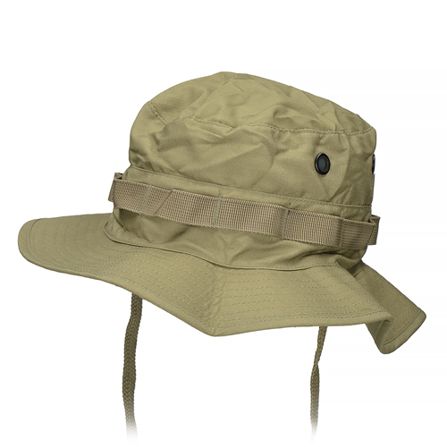 Mil-Tec British Boonie Hat with Neck Flap Rip-Stop Coyote