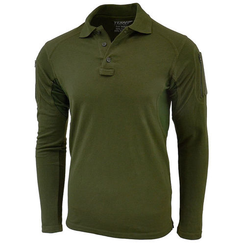 Texar Polo Shirt with Long Sleeve Elite Pro Olive