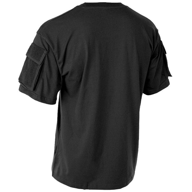 f9e8b4c133617f MFH Koszulka T-shirt z Kieszeniami na Rękawach Czarna   Milworld.pl