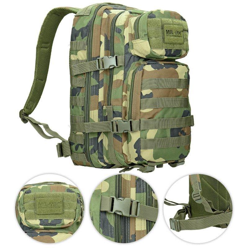 cb38566c9cb29 Mil-Tec Plecak Taktyczny Assault Mały Woodland | Milworld.pl