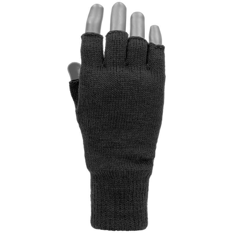 f3f6847ff35b6 ... Mil-Tec Rękawice bez Palców Thinsulate Czarne ...