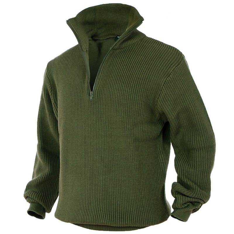 Mil Tec Sweter Troyer Olive