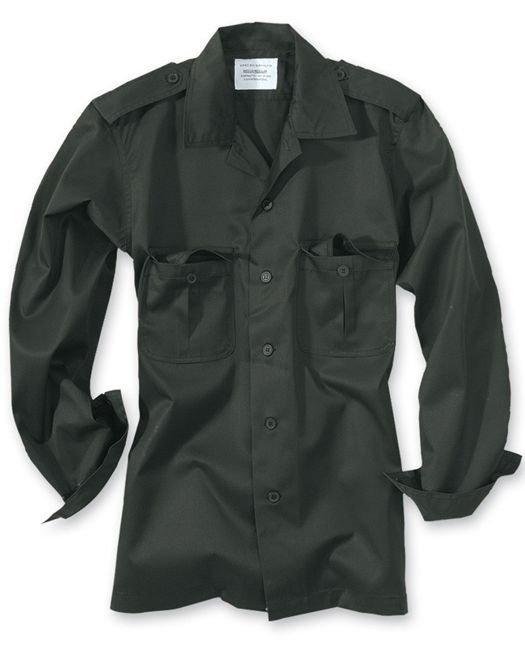 10918af5d03ce0 Surplus Koszula Mundurowa z Długim Rękawem US Hemd 1/1 Czarna ...