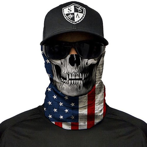 SA Co. Chusta Wielofunkcyjna Face Shield™ American Flag Skull