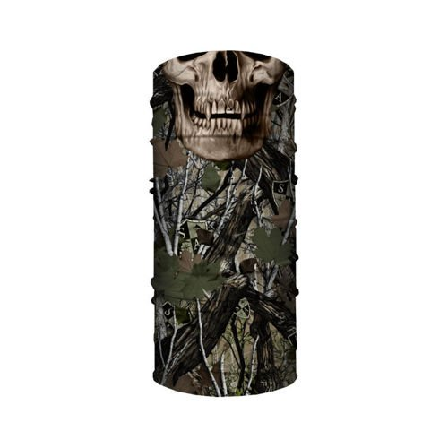 SA Co. Chusta Wielofunkcyjna Face Shield™ Forest Camo Dregs Skull