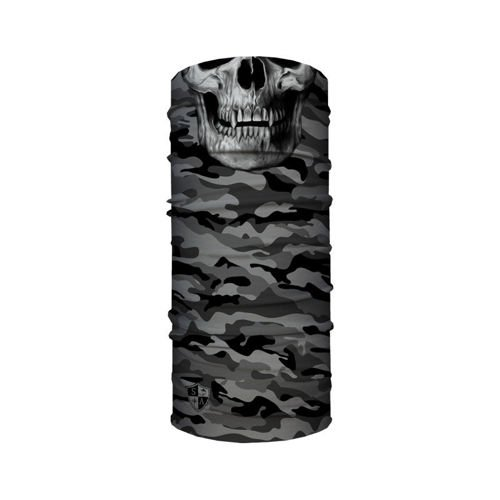 SA Co. Chusta Wielofunkcyjna Face Shield™ Grey Military Camo Skull