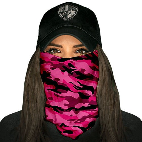 SA Co. Chusta Wielofunkcyjna Face Shield™ Pink Military Camo