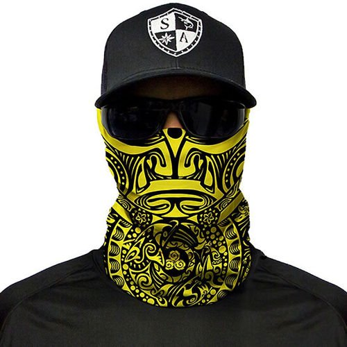 SA Co. Chusta Wielofunkcyjna Face Shield™ Polynesian Tribal Yellow