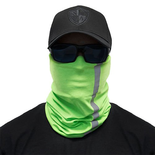SA Co. Chusta Wielofunkcyjna Face Shield™ Reflective Electric Green